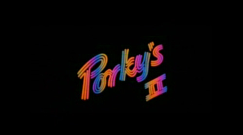 Porky's II title screen