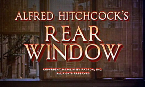 Rear Window title screen