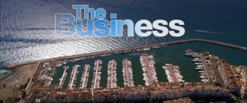 The Business title screen