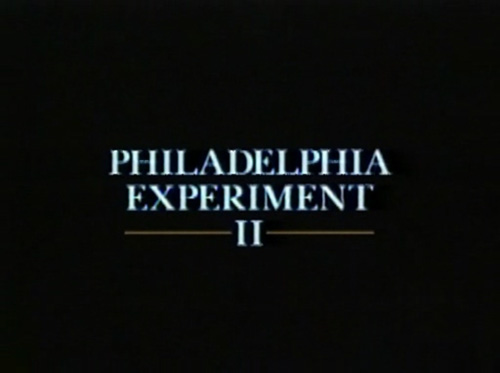 The Philadelphia Experiment II title screen