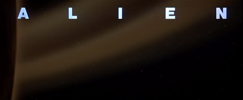 Alien title screen