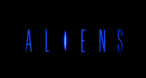 Aliens title screen