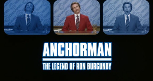 Anchorman: The Legend Of Ron Burgundy title screen