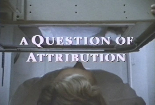 A Question Of Attribution title screen