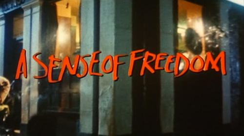 A Sense Of Freedom title screen