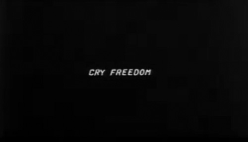 Cry Freedom title screen