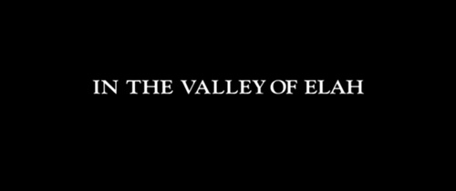 In The Valley Of Elah title screen