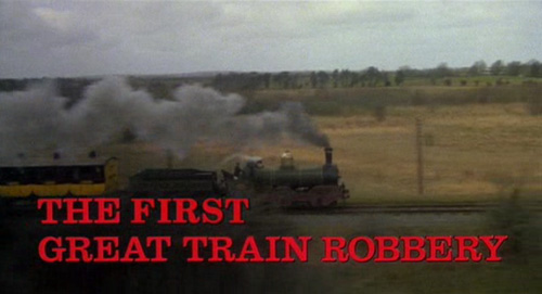 The First Great Train Robbery title screen