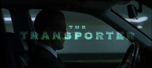 The Transporter title screen