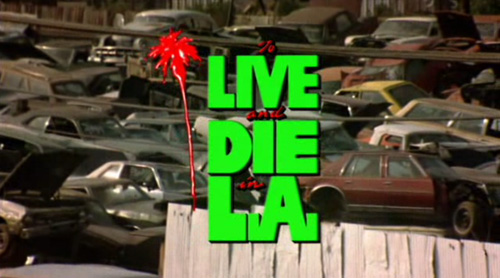 To Live And Die In LA title screen