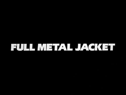 Full Metal Jacket title screen