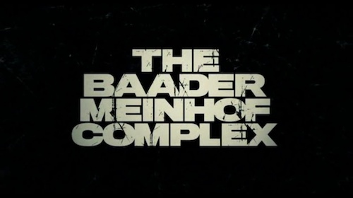 Der Baader Meinhof Complex title screen