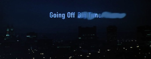Going Off Big Time title screen