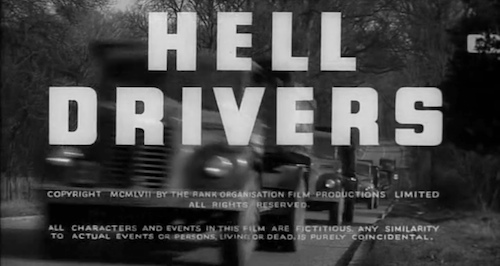 Hell Drivers title screen