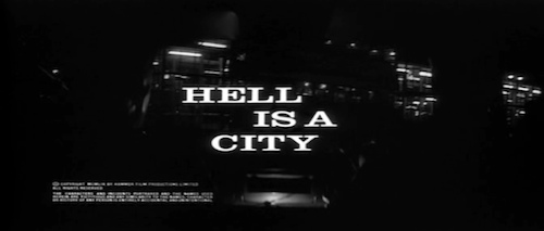 Hell Is A City title screen