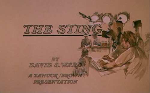 The Sting title screen