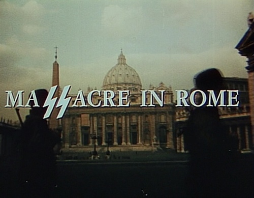 Massacre In Rome title screen