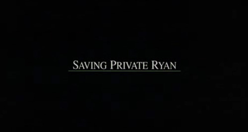 Saving Private Ryan title screen