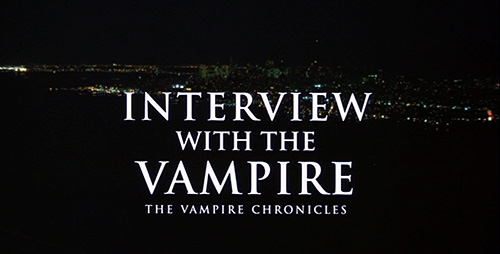 Interview With The Vampire title screen