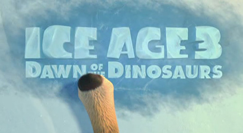 Ice Age: Dawn Of The Dinosaurs title screen