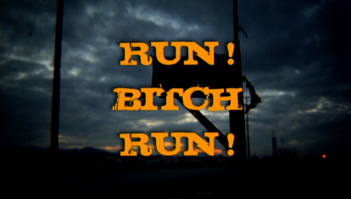 Run! Bitch Run! title screen
