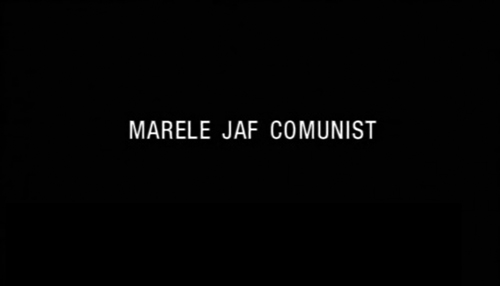 Marele Jaf Comunist title screen