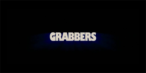 Grabbers title screen