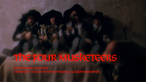 The Four Musketeers title screen