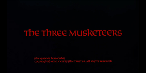 The Three Musketeers title screen
