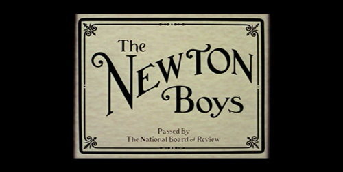 The Newton Boys title screen