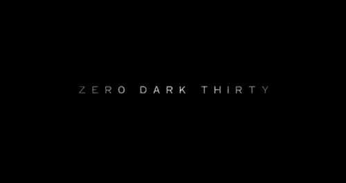 Zero Dark Thirty title screen