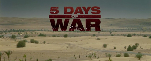 5 Days Of War title screen