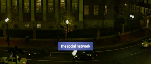 The Social Network title screen