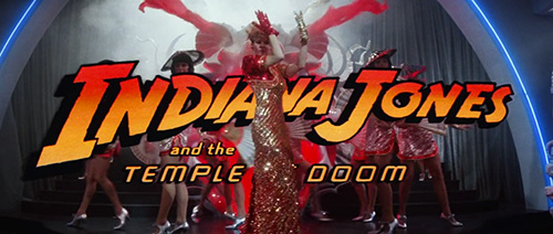 Indiana Jones And The Temple Of Doom title screen