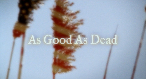 As Good As Dead title screen