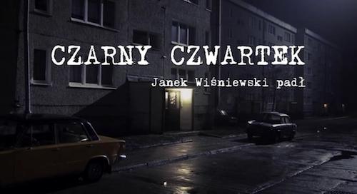 Czarny Czwartek: Janek Wiśniewski Padł title screen