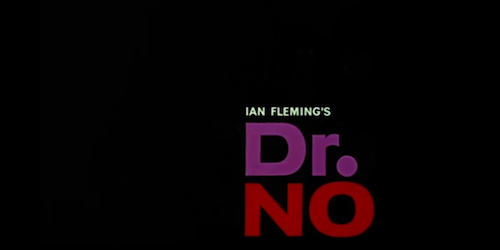 Dr. No title screen