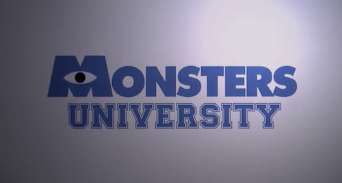 Monsters University title screen
