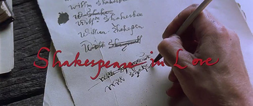 Shakespeare In Love title screen