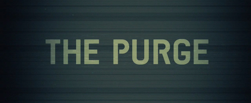 The Purge title screen