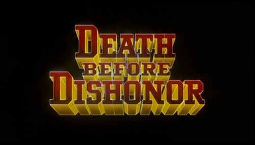 Death Before Dishonor title screen