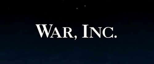 War, Inc. title screen