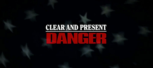 Clear And Present Danger title screen
