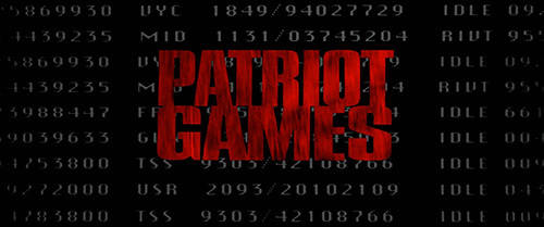 Patriot Games title screen