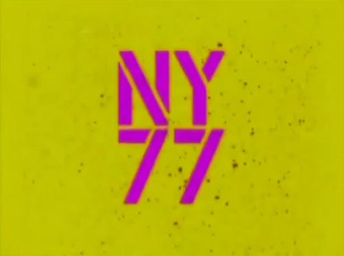 NY77: The Coolest Year In Hell title screen
