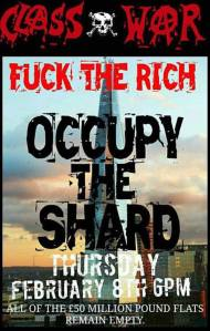 Occupy The Shard poster